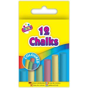 Artbox Children's Multi-Coloured Chalks - Pack of 12