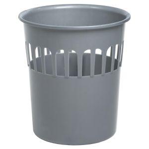 Wham Casa 16 Litre Plastic Waste Paper Basket, Silver