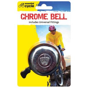 Rapide Essential Cycle Classic Chrome Bicycle Bell with Fittings