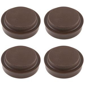 Fastpak 45mm Small Furniture Castor Cups, Brown - Pack of 4