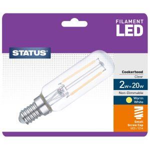 Status E14 SES 2 Watt Filament LED Cooker Hood Bulb, Pack of 1