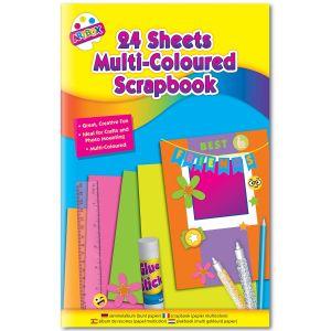 Artbox Children's Large Scrapbook, 48 Assorted Colour Pages