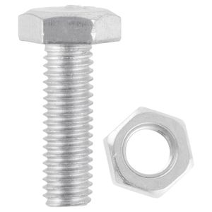 Fastpak Zinc Plated Hex Bolts with Nuts - M6 x 16mm