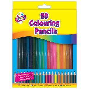 Artbox Children's Full Length Colouring Pencils - Pack of 20