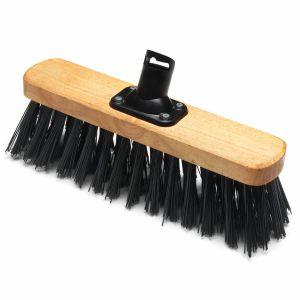 Addis 325mm PET Plastic Fill Stiff Outdoor Varnished Broom Head