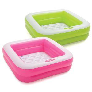 Intex Play Box Pool Inflatable Kids Paddling Pool, 33.5 x 33.5 Inch