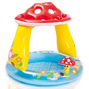 Intex Mushroom Baby Play Pool with Sunshade, 40 x 35 Inch - Multi