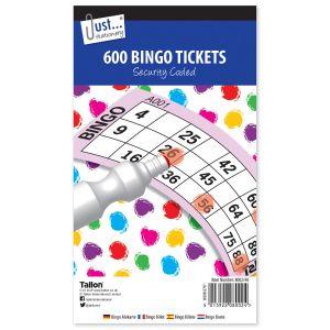 Just Stationery Jumbo Bingo Ticket Book, 600 Tickets