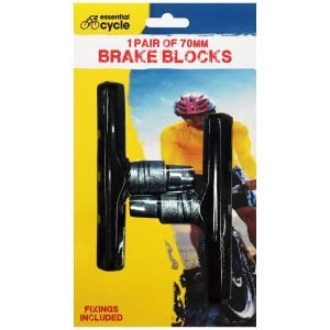 Rapide Essential Cycle 70mm Brake Block Pads with Fittings
