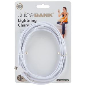 Juice Bank iPhone Lightning to USB Charge & Sync Cable, 3 Metre