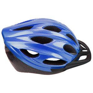 Summit Pursuit Cycle Safety Helmet with Visor, Blue