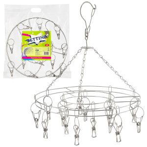 Bettina 15 Peg Stainless Steel Laundry Airer, Silver
