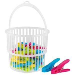 Bettina 36 Laundry Pegs and Expanding Peg Basket Set