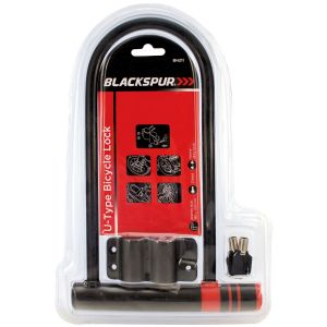 Blackspur Heavy Duty U-Type Bicycle Lock, 320mm x 180mm
