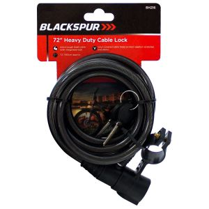Blackspur 72 Inch Heavy Duty Bicycle Cable and Lock