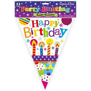 Simon Elvin Happy Birthday Foil Party Bunting - Childrens