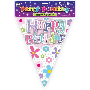 Simon Elvin Happy Birthday Foil Party Bunting - Female