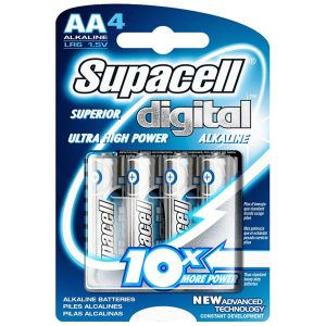 Supacell Digital Alkaline AA Batteries - Pack of 4