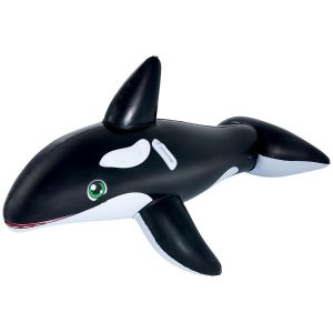 Bestway Jumbo Whale Inflatable Pool Ride On, 80 x 40 Inch
