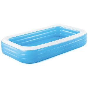 Bestway Deluxe Inflatable Family Paddling Swimming Pool, 120 x 72 x 22 Inch - Blue