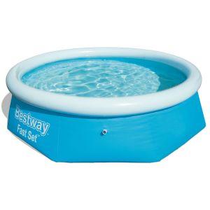 Bestway Fast Set Family Swimming Pool, 8 Feet x 26 Inch - Blue