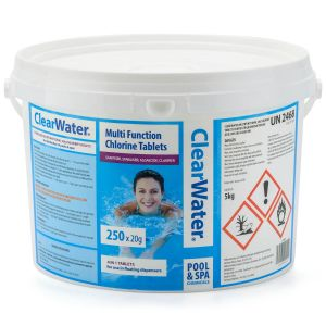 Clearwater 250 x 20g Mini Multi-Function Tablets for Pools & Spas - 5kg