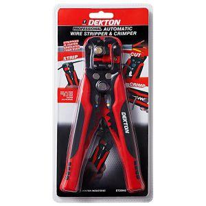 Dekton Professional Automatic Wire Stripper & Crimper, Red