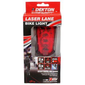 Dekton LED Laser Lane Rear Safety Bike Light