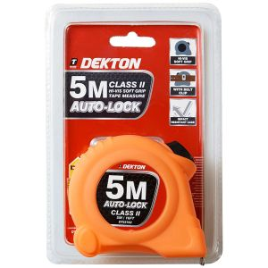 Dekton 5m x 20mm Auto Lock Hi-Vis Dual Markings Tape Measure