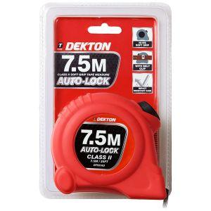 Dekton 7.5m x 23mm Auto Lock Hi-Vis Dual Markings Tape Measure
