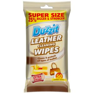 Duzzit Leather Cleaning Wipes - Pack of 50