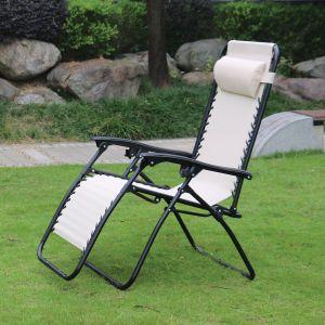 Redwood Leisure Textilene Reclining Gravity Chair - Beige