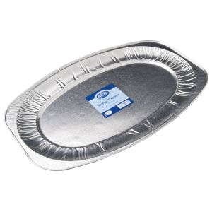 Essential 55cm Embossed Large Foil Platter - Pack of 1