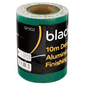 Blackspur Aluminium Oxide 120 Grit Fine Sanding Paper Roll, 115mm x 10m