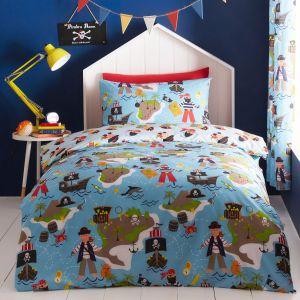 Kids' Club Pirates Map Duvet Cover and Pillowcase Set