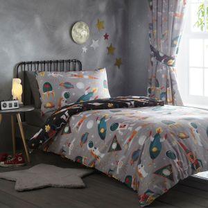 Kids' Club Spaceman Duvet Cover and Pillowcase Set, Multi