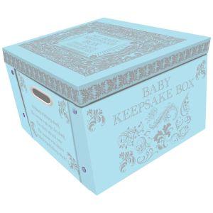 Robert Frederick Baby Keepsake Large Collapsible Storage Box, Blue