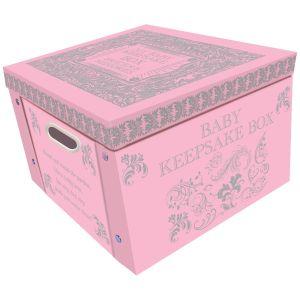Robert Frederick Baby Keepsake Large Collapsible Storage Box, Pink