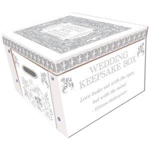 Robert Frederick Wedding Keepsake Large Collapsible Storage Box, White