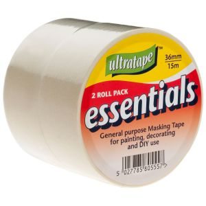 Ultratape Essentials Masking Tape, 36mm x 15m - Pack of 2