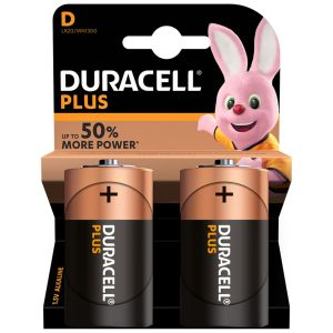 Duracell Plus Power D Size Batteries - Pack of 2