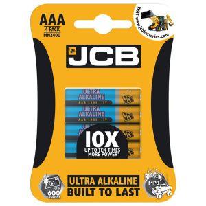 JCB Ultra Alkaline AAA Batteries - Pack of 4