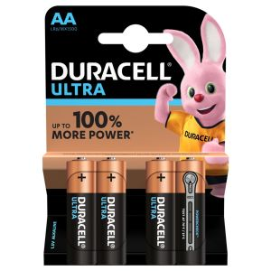 Duracell Ultra Power AA Batteries - Pack of 4