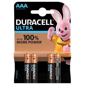 Duracell Ultra Power AAA Batteries - Pack of 4
