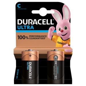 Duracell Ultra Power C Size Batteries - Pack of 2