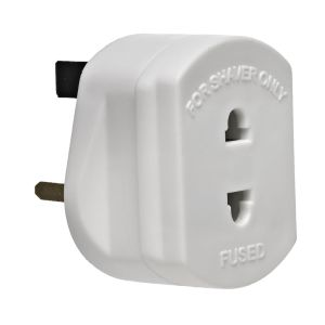 Status 1 Amp Fused Shaver Adaptor, White