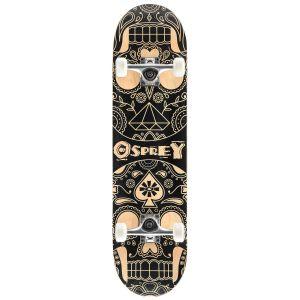 Osprey Candy Skull Double Kick Tail Skateboard - Multi