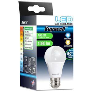 Supacell A65 E27 ES 12 Watt LED GLS Light Bulb, Warm White