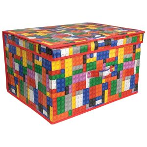 Country Club Children's Building Blocks Large Collapsible Storage Box, Multi