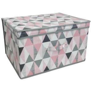 Country Club Children's Vector Geometric Large Collapsible Storage Box, Multi
